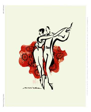 Tango in Rot Kunstdruck