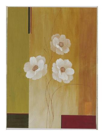 Three White Flowers II Print by Fernando Leal