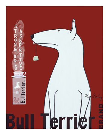 Thé Bull Terrier Reproduction d'art
