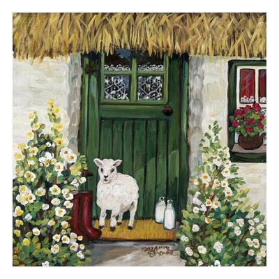 Green Door Prints by Suzanne Etienne
