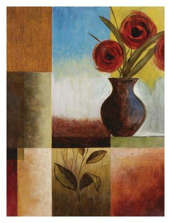 Red Flower Window II Prints by Fernando Leal