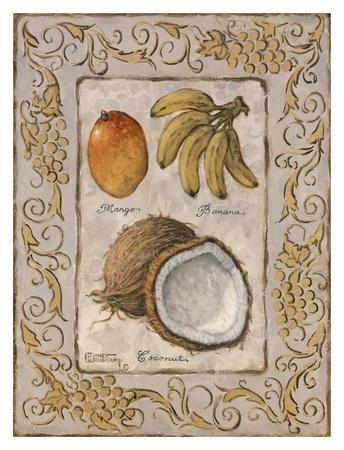 Tropical Fruit I Poster by Janet Kruskamp