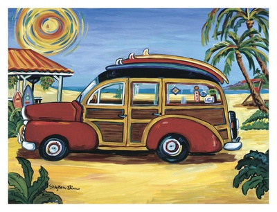 Red Woody Print by Suzanne Etienne