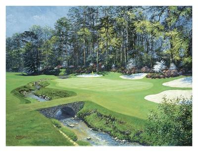 The 13th At Augusta, Azalea Poster by Bernard Willington