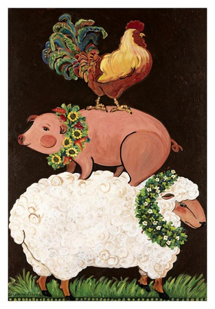 Barnyard Friends Posters by Suzanne Etienne