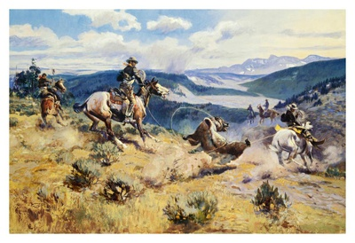Loops and Swift Horses Are Surer Than Lead Posters by Charles Marion Russell