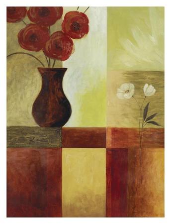 Red Flower Window I Posters by Fernando Leal