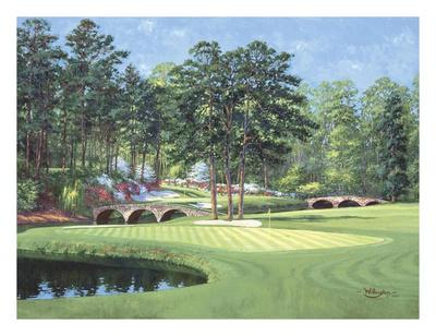 11th at Augusta, White Dogwood Print by Bernard Willington