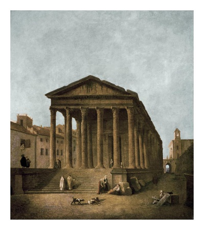 Temple of Augustus in Nimes, 1783 Art Print