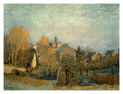 Little Town on the River Seine, 1872 Prints by Alfred Sisley