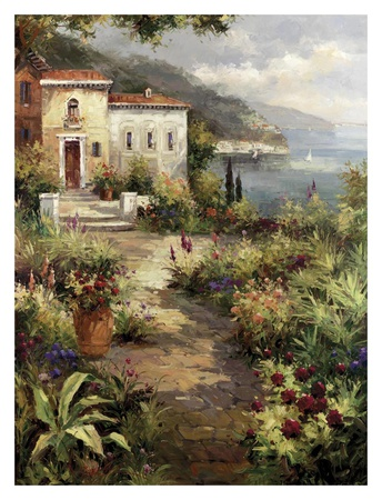 Villa's Garden Path Posters by Peter Bell