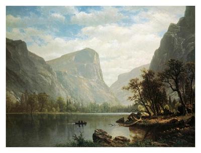 Mirror Lake, Yosemite Valley Posters by Albert Bierstadt