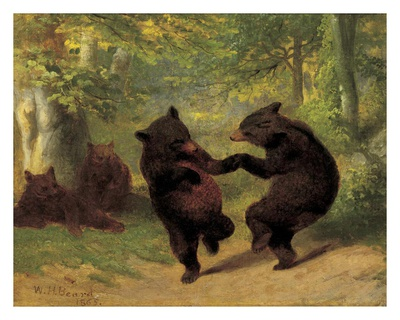 Dancing Bears Reproduction d'art