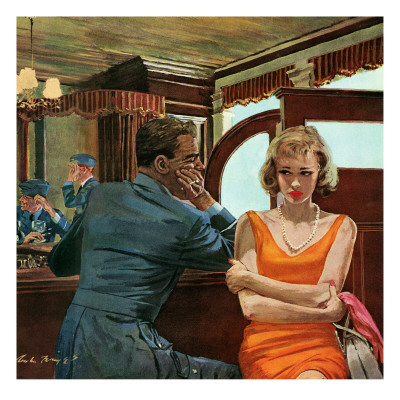 """The Day He Went Away - Saturday Evening Post """"Leading Ladies"""", April 11, 1959 pg.21 Giclee Print by Austin Briggs"""