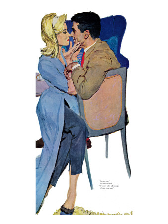"Marriage Mood - Saturday Evening Post ""Leading Ladies"", March 5, 1960 pg.25 Giclee Print by Lynn Buckham"