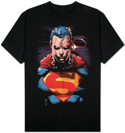 Superman - Red Eyes on Black T-Shirt