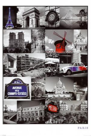 Paris (Collage) Posters