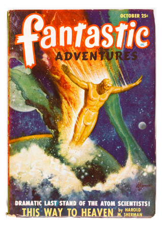 Fantastic Adventures This way to Heaven (Space Man) Art Print