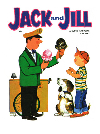 Summer Treat - Jack and Jill, July 1962 Giclee Print by Helen Wright