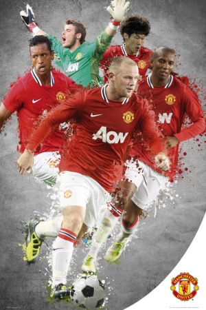 Man Utd-Players 11-12 Póster