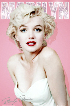 Marilyn Monroe-Diamond Poster