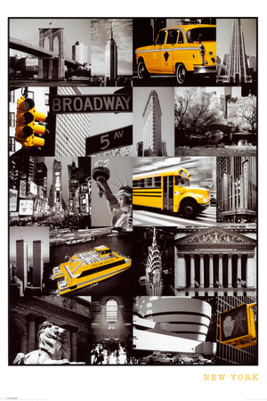 New York (Collage) Posters