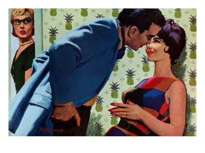 "The Nesting Instinct - Saturday Evening Post ""Men at the Top"", March 21, 1959 pg.30 Giclee Print by Morgan Kane"