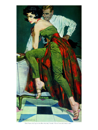 "The Other Wife - Saturday Evening Post ""Men at the Top"", January 30, 1960 pg.31 Giclee Print by Bob Me Ginnis"