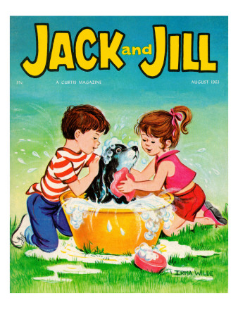 Getting the Works - Jack and Jill, August 1963 Giclee Print by Irma Wilde