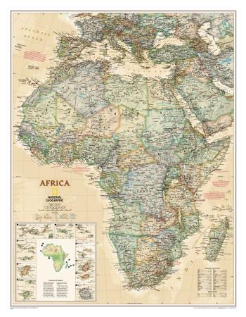National Geographic, Kort over Afrika, luksusudgave Plakater
