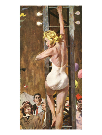 "The Girl On The Tower  - Saturday Evening Post ""Leading Ladies"", September 24, 1960 pg.26 Giclee Print by Robert Mcginnis"