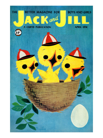 Baby Birds - Jack and Jill, April 1958 Giclee Print by Phyllis Gimour