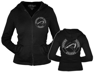 Women's Zip Hoodie: Pretty Little Liars - Rosewood Sharks T-Shirt