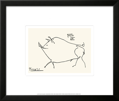 Pig Print by Pablo Picasso