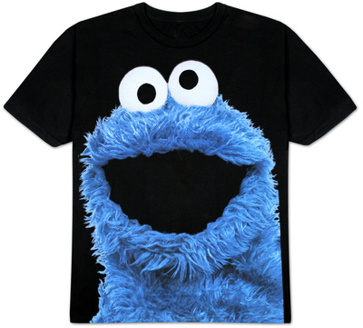 Sesame Street - Big Photo Cookie Camiseta