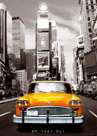 New York-Taxi Affiche gante