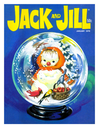 Shake Up a Snowstorm - Jack and Jill, January 1970 Giclee Print by Rae Owings