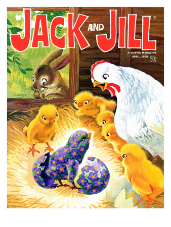Easter Surprise - Jack and Jill, April 1968 Giclee Print by Rae Owings