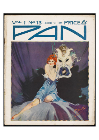 Art Deco Magazine Cover Art Print