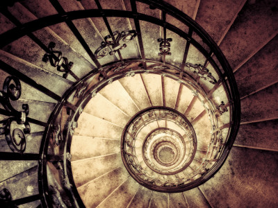 Hungary, Budapest, St; Stephen Cathedral (Szent Istvan Bazilika), Staircase to Dome Photographic Print by Michele Falzone