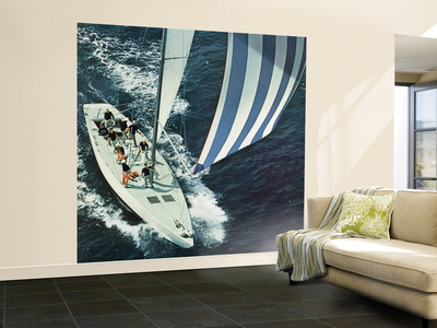 """""""America's Cup,"""" August 22, 1964 Wall Mural – Large by John Zimmerman"""
