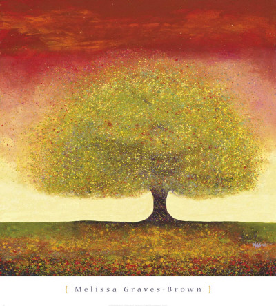 Dreaming Tree Red Print by Melissa Graves-Brown