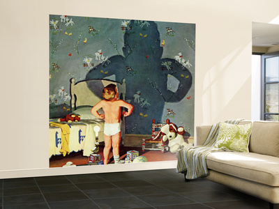 """""""Big Shadow, Little Boy,"""" October 22, 1960 Wall Mural – Large by Richard Sargent"""