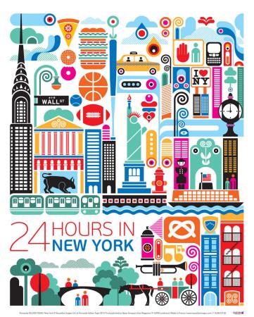 New York Poster by Fernando Volken Togni