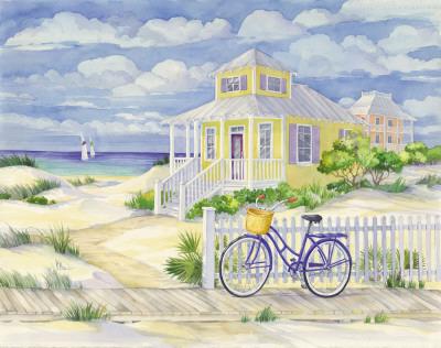 Beach Cruiser Cottage II Prints by Paul Brent