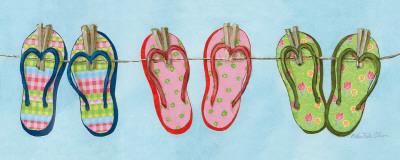 Flip Flops II Prints by Charlene Winter Olson