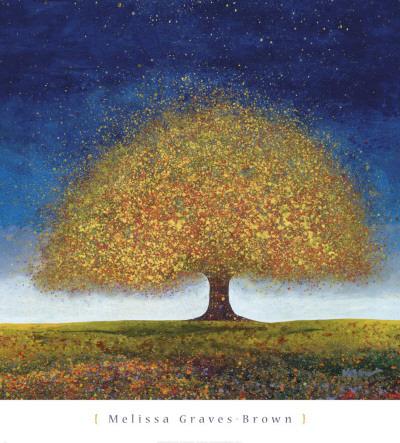 Dreaming Tree Blue Poster von Melissa Graves-Brown