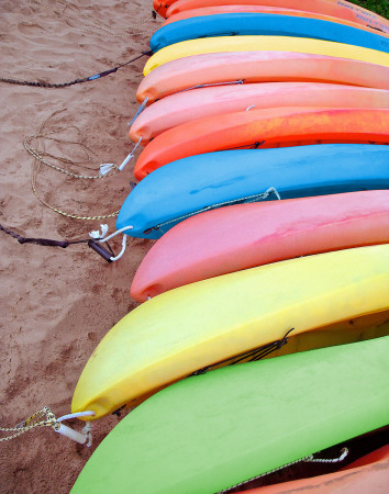 Kayaks I Prints by Jairo Rodriguez