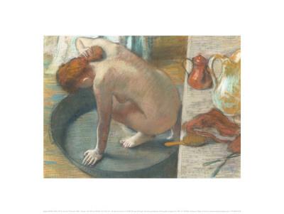 The Tub Prints by Edgar Degas