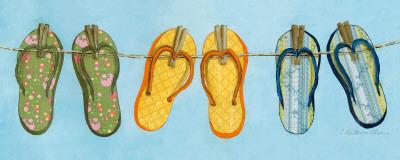 Flip Flops I Print by Charlene Winter Olson